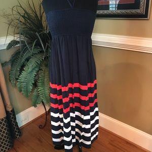 Gap Kids Navy/Red/White Summer Maxi Dress